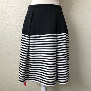 Kate Spade Cape Striped Pleated Skirt Size 4